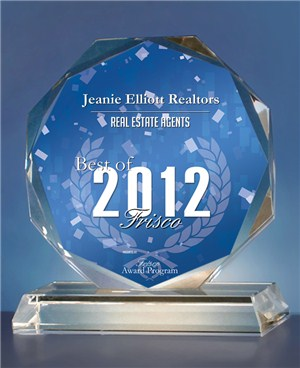 2012 - Best Real Estate Agent Awarded to Jeanie Elliott