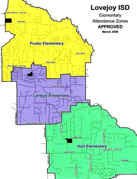 2008 Lovejoy ISD - Elementary Zones